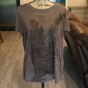 Maurice's plus size 2 burnout tee